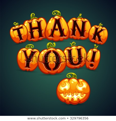 Halloween Pumpkin Says Thank You Stock photo © Voysla