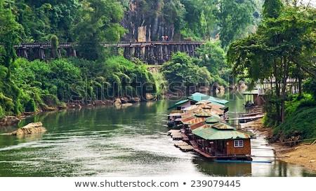 casa · de · campo · montanha · Tailândia · norte · céu · árvore - foto stock © ssuaphoto