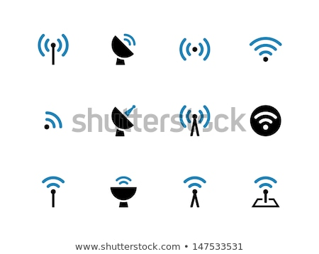 Radio senal azul vector icono diseno Foto stock © rizwanali3d