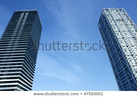 Barcelona willi budynków szkła działalności biuro Zdjęcia stock © lunamarina