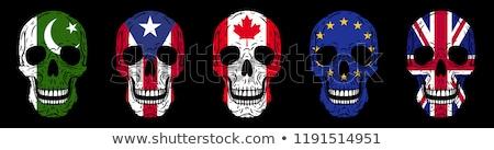 Reino Unido Porto Rico bandeiras quebra-cabeça isolado branco Foto stock © Istanbul2009