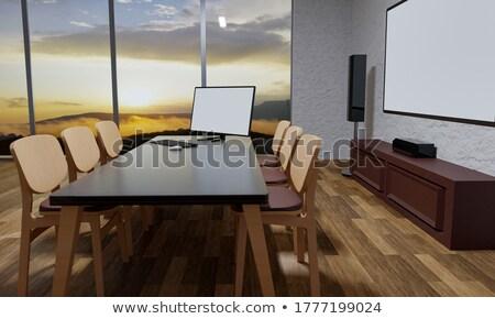 Videofal tv 3D izolált fekete globális Stock fotó © daboost