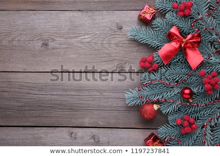 Christmas background with fir branches and bumps Stock photo © Valeriy
