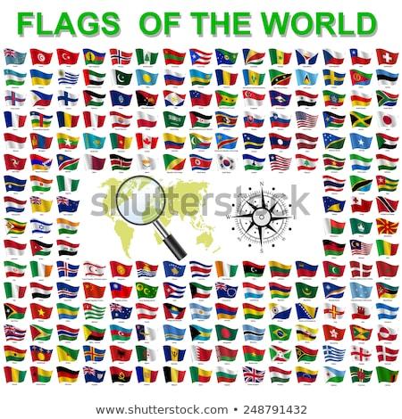 Brezilya Malawi bayraklar bilmece yalıtılmış beyaz Stok fotoğraf © Istanbul2009