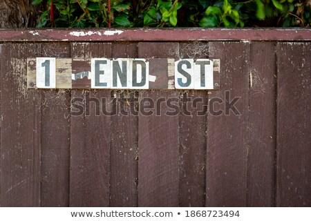 Spinneweb hek dauw houten textuur achtergrond Stockfoto © Kotenko