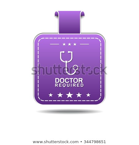 Doctor Required Violet Vector Icon Design Stock photo © rizwanali3d