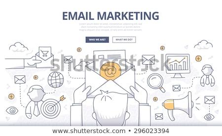 email marketing with doodle design style stock photo © davidarts