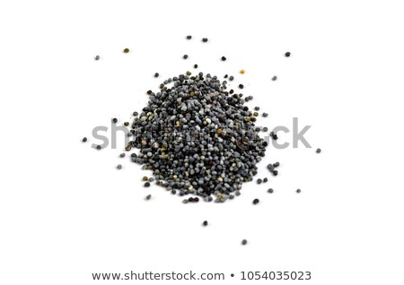 Top view of Organic White Poppy seeds (Papaver somniferum)  Stock photo © ziprashantzi