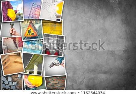 Construction industry themed photo collage Stock photo © stevanovicigor