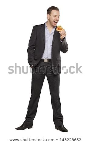 ビジネスマン 立って 食べ eps 10 シルエット ストックフォト © Istanbul2009