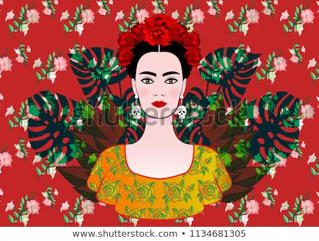 Portre kadın renkli neşeli doku seksi Stok fotoğraf © majdansky