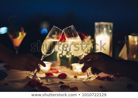 Cena candela luce illustrazione pin up Foto d'archivio © lenm