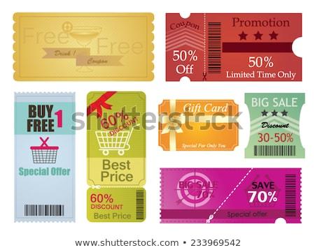 Duży kolekcja talon gift card układ szablony Zdjęcia stock © DavidArts