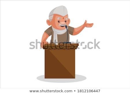 выборы речи политик кампания человека микрофона Сток-фото © sahua