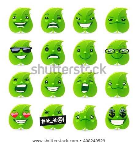 Funny Leaf Emojis Stock photo © Voysla