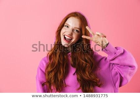 orkide · parlak · resim · kadın · mutlu - stok fotoğraf © konradbak