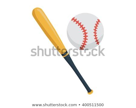 Taco de beisebol bola sombra branco ilustração 3d vermelho Foto stock © make