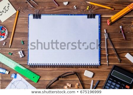 Eraser иллюстрация белый школы графических пластиковых Сток-фото © bluering