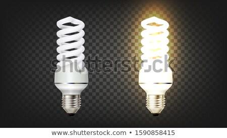 спиральных · компактный · флуоресцентный · Гранж · свет - Сток-фото © bluering