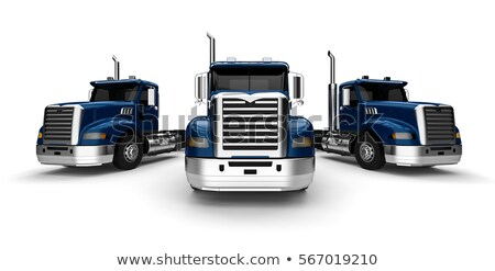 3d rendering truck fleet stock photo © alphaspirit