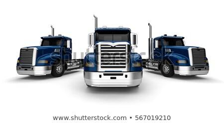 3D грузовика флот грузовиков путешествия Сток-фото © alphaspirit