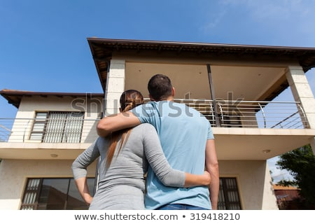 a front and back view of a married couple stock photo © bluering