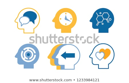 Vector set of speech bubble inside human heads Stock photo © adrian_n