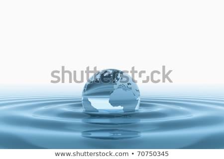 Azul mundo globo água natureza Foto stock © jezper