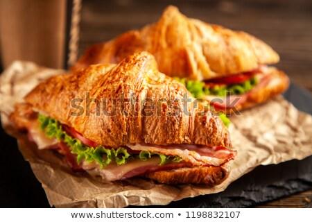 簡単 ハム チーズ サラダ サンドイッチ ストックフォト © Digifoodstock