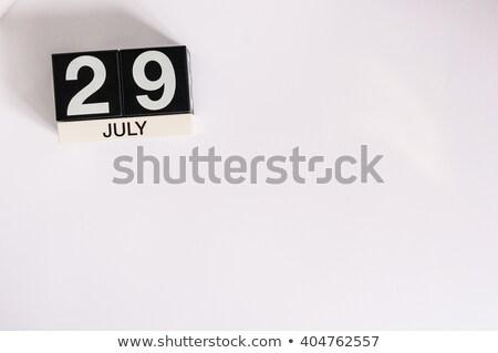 örnek · zarif · ahşap · takvim · beyaz · kâğıt - stok fotoğraf © oakozhan