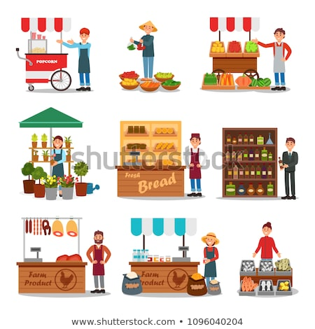 A farmer and a vendor Stock photo © bluering