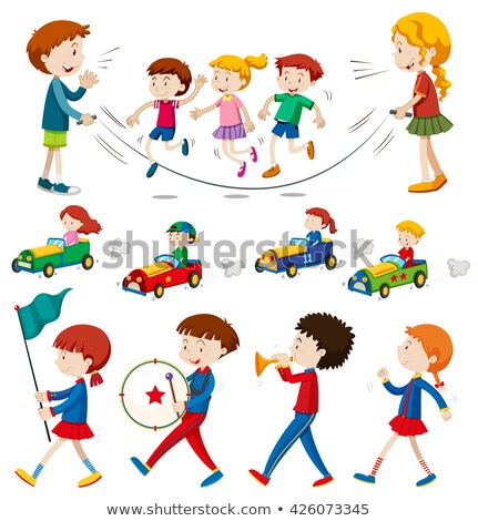 Children in the band and doing other activities Stock photo © bluering