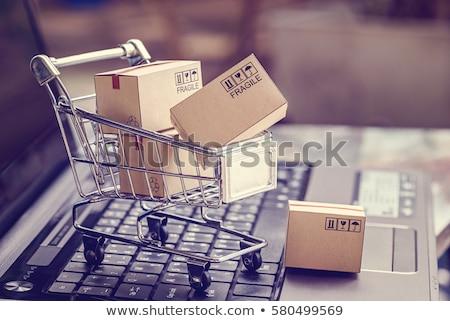 hitelkártya · lakat · billentyűzet · biztonság · ekereskedelem · számítógép - stock fotó © alphababy