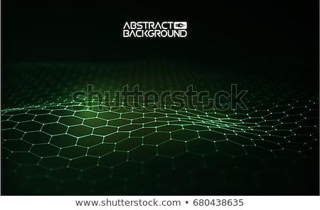 抽象的な 薄緑 波 ベクトル 企業 グラフィックデザイン ストックフォト © saicle