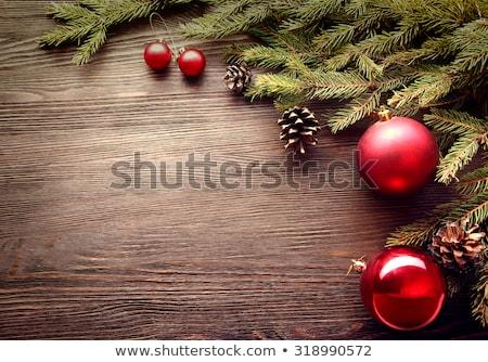 エレガントな クリスマス 花輪 弓 赤 緑 ストックフォト © ozgur