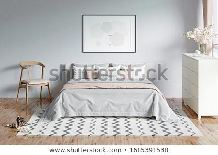 romantische · slaapkamer · interieur · groot · sofa - stockfoto © imaster