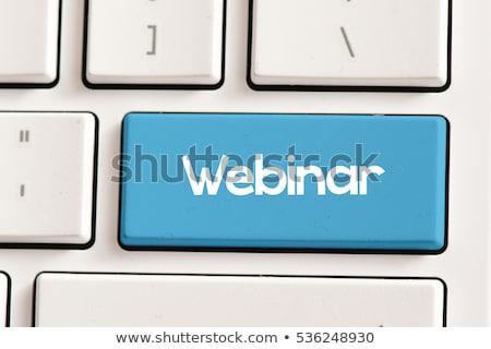 Webinar clave negocios Internet teclado Foto stock © Oakozhan