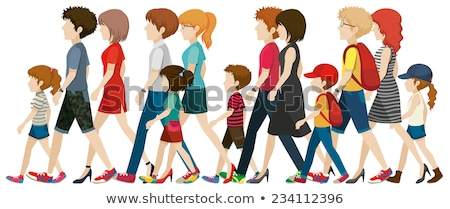 Teenagers without faces walking Stock photo © bluering