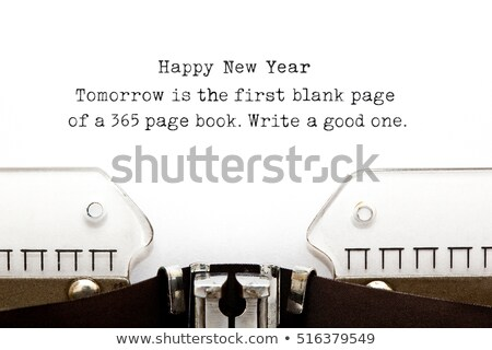 New Year Quote Typewriter Stock photo © ivelin