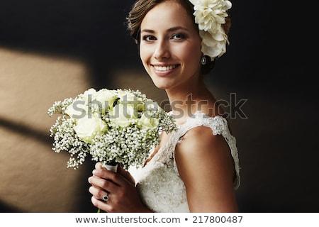 makyaj · sağlıklı · güzellik · gelin · düğün - stok fotoğraf © deandrobot