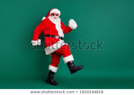santa claus with christmas gifts goes to kids stock photo © vectorikart