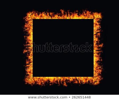 Zdjęcia stock: Flames Frame Background