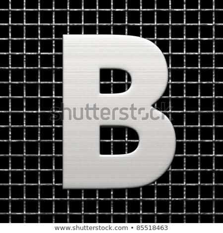 Metal lattice font letter B 3D Stock photo © djmilic