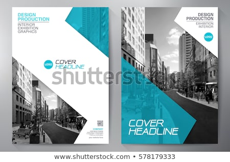 magazine cover template design business brochure template for a stock photo © sarts