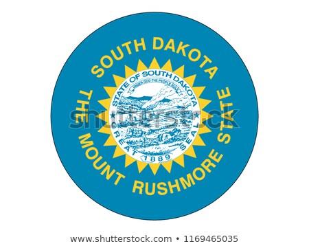 Észak-Dakota · zászló · térkép · izolált · fehér · USA - stock fotó © tussik
