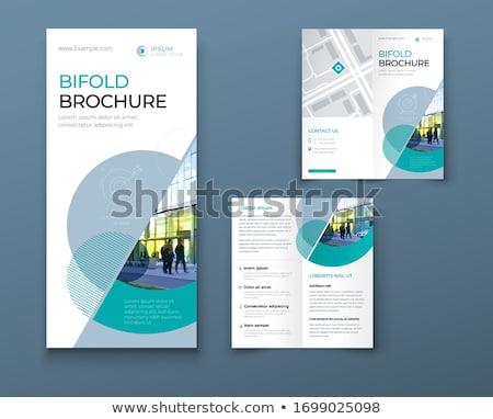 Elegáns magazin füzet brosúra terv promóciós Stock fotó © SArts