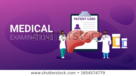 Cirrhosis of the Liver anatomy protection concept illustration,  Stock photo © Tefi