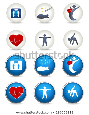 Good sleep, fitness and other Healthy living icons Stock photo © Tefi