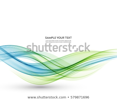blue and green abstract wavy background stock photo © saicle