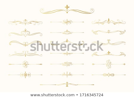 vector set of golden calligraphic dividers and decorative elements for design and page decoration stock photo © blue-pen